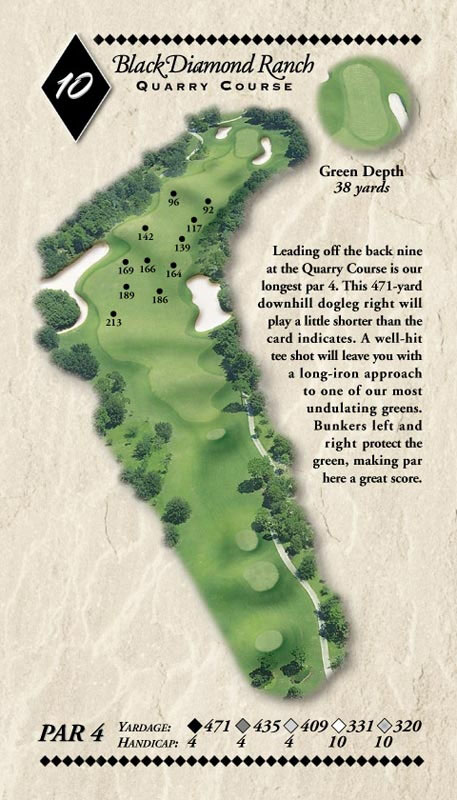 The Quarry Course hole layout at black diamond ranch